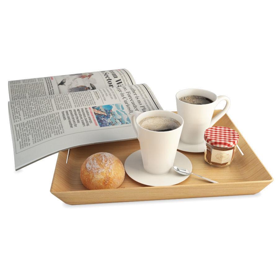 Breakfast Coffee And Newspaper