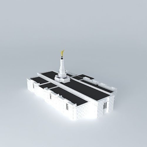 lds. veracruz mexico mormon temple, 93rd operating temple 3d model max obj 3ds fbx stl dae 1