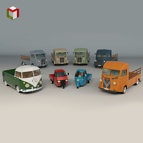 Low Poly Pickup Pack 02