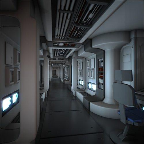Car Interior: 3D Model Spacecraft Corridor HD