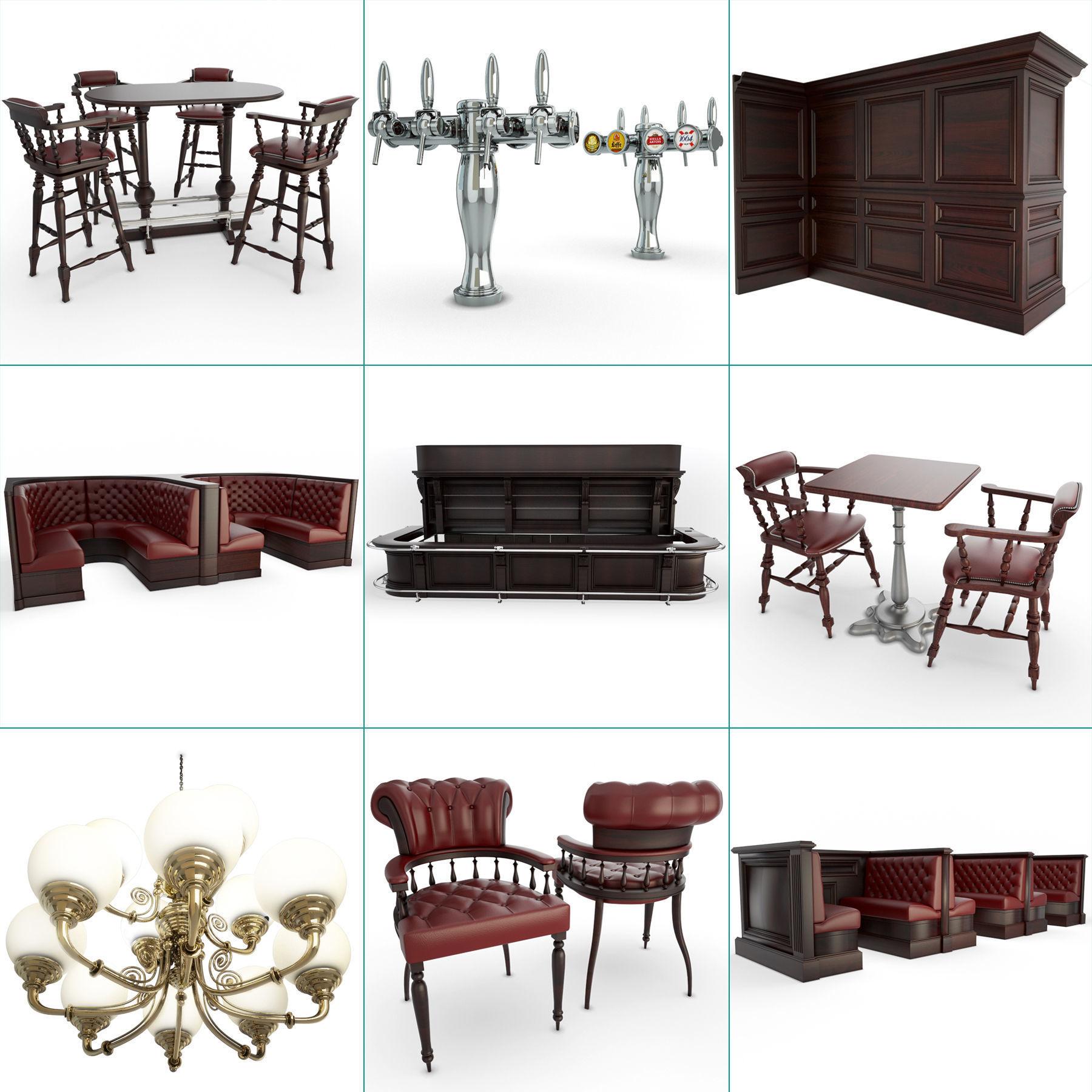 English Pub Furniture and Lighting Collection