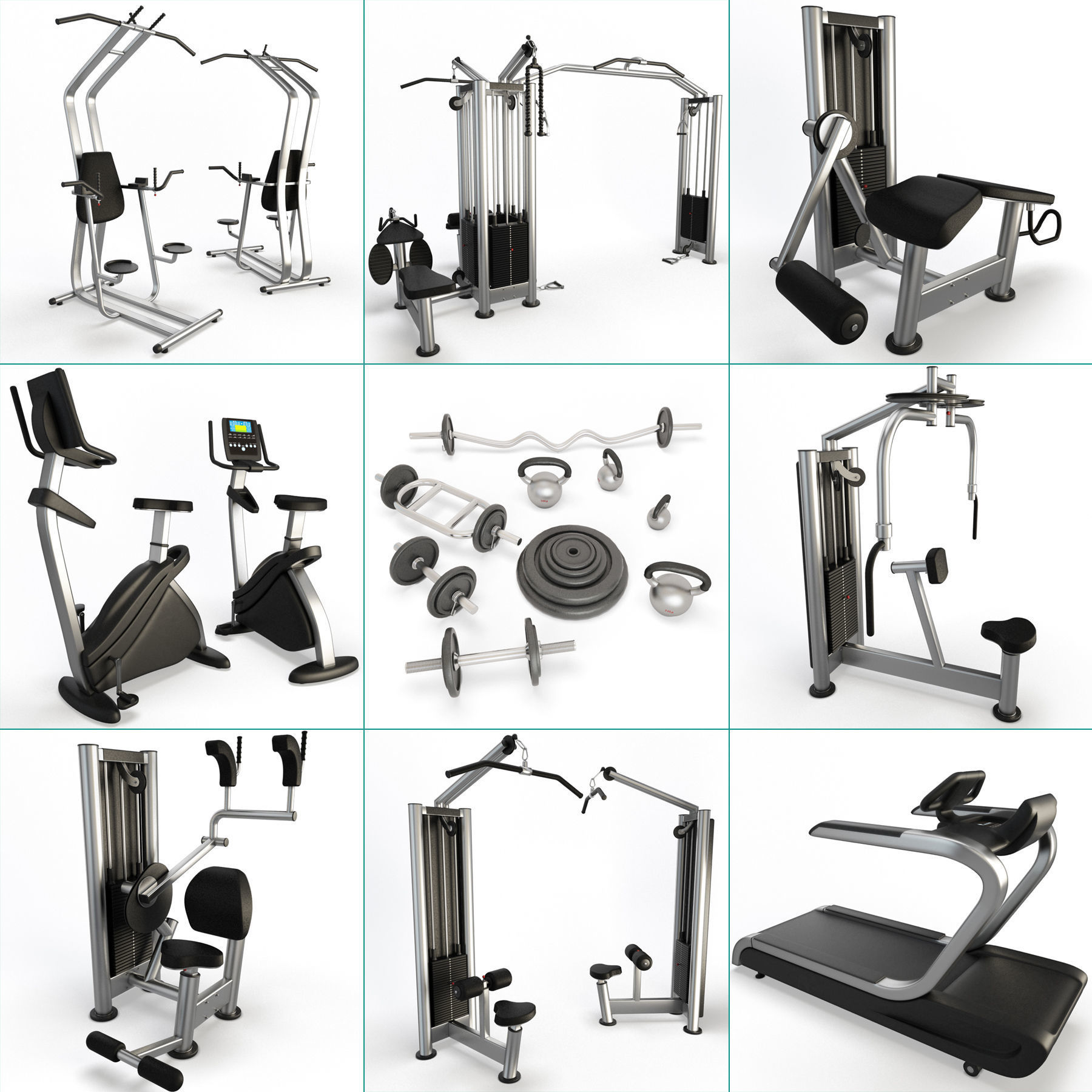 Fitness Machine Room Collection