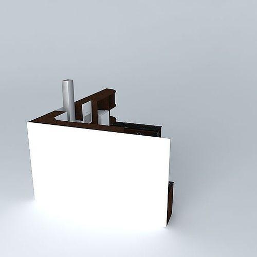Kitchen design with equipment 3D model MAX OBJ 3DS FBX STL SKP