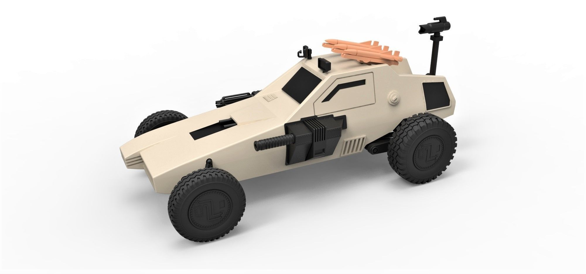 Diecast model Dune buggy from movie Megaforce 1982 Scale 1 to 24