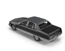 Cadillac brougham Low Poly 3D model