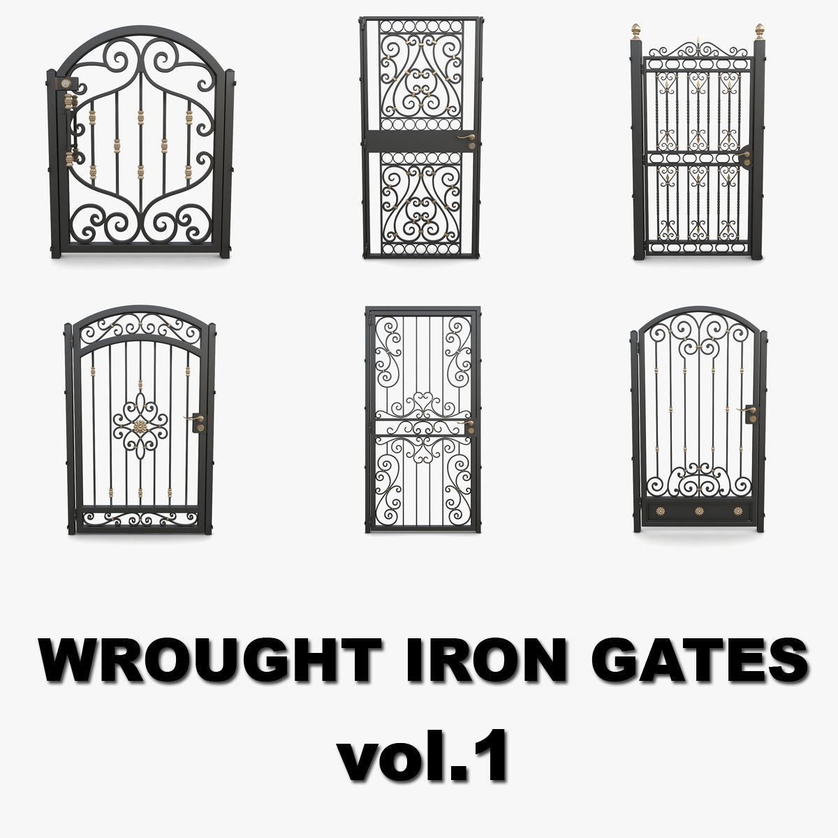 Wrought iron gates collection vol1