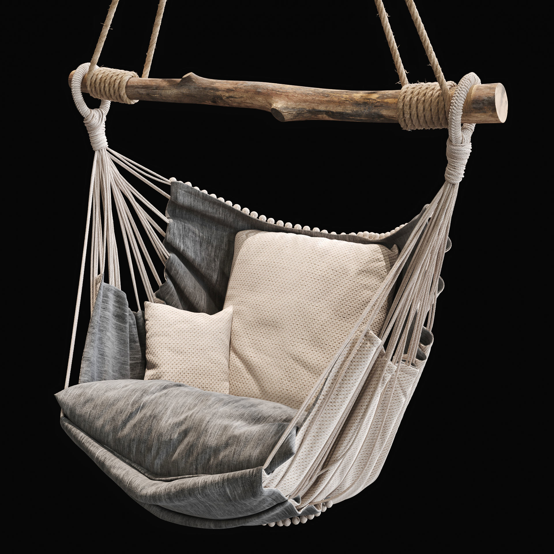 3d Hanging Hammock Chair 2 Cgtrader