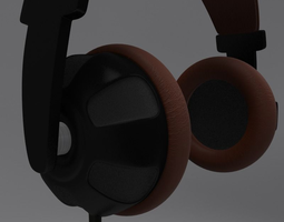 game-ready 3d asset animated headphone and cord