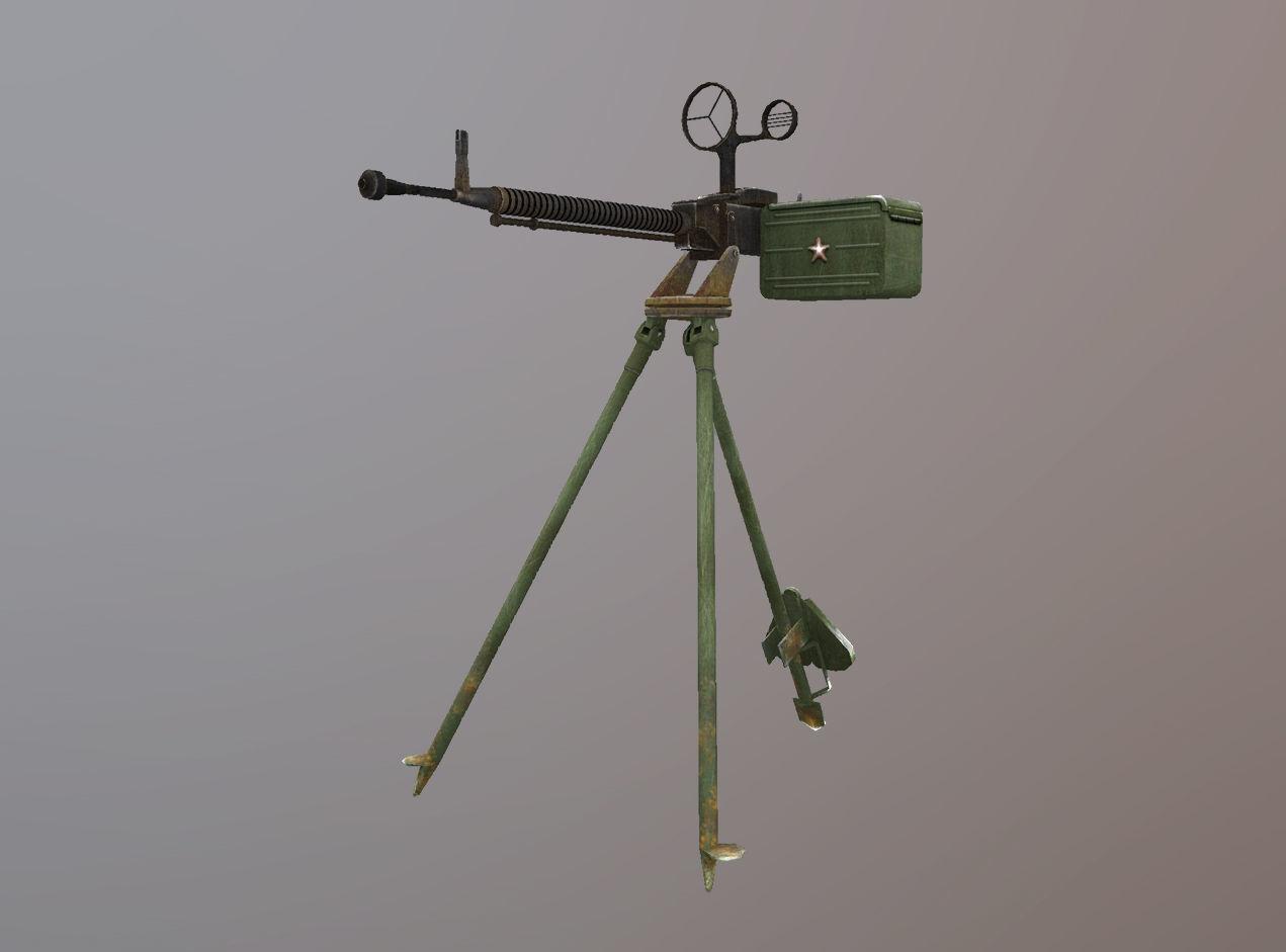 DShKM Soviet heavy machine gun