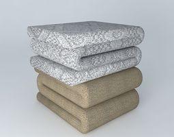 Linens Bent Bed Sheet 3D