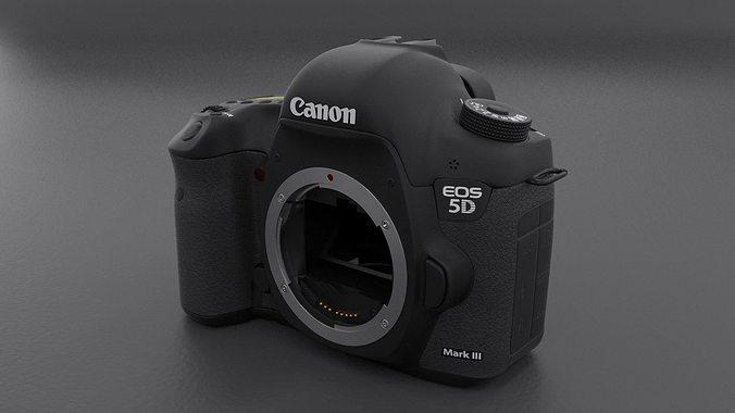 canon 5d mark iii body 3d model max obj fbx stl blend dwg 1