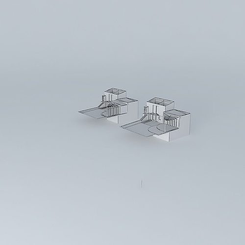 Small house la baule frederic tabary 3d model max obj 3ds fbx stl dae - Frederic tabary ...