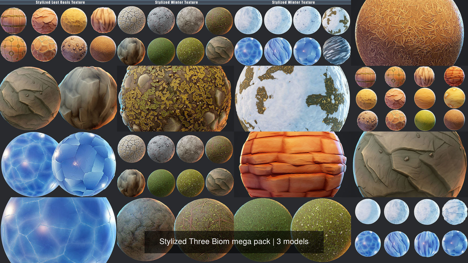 Stylized Three Biom mega pack