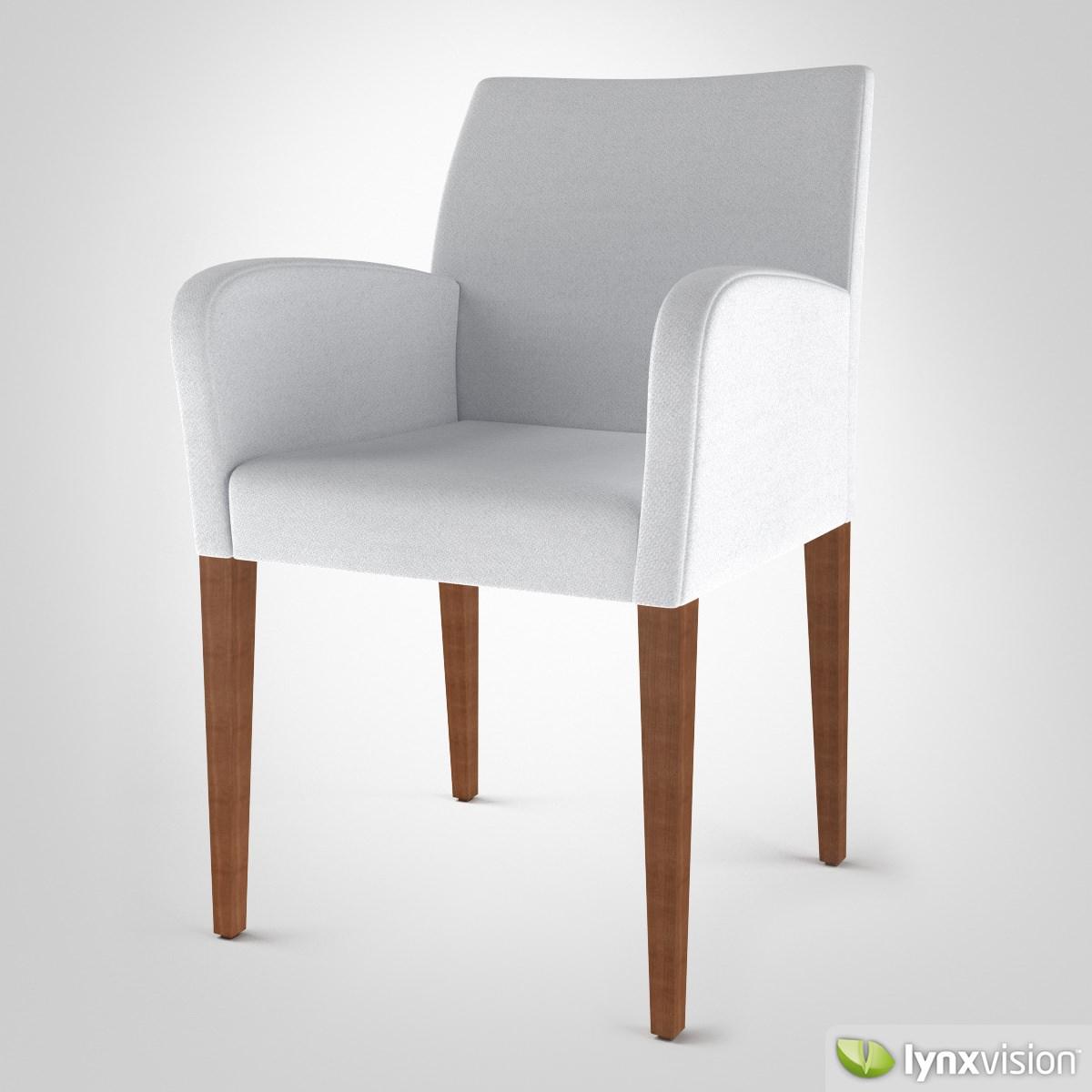 Liz chair by poltrona frau 3d model max obj fbx for Poltrona 3d