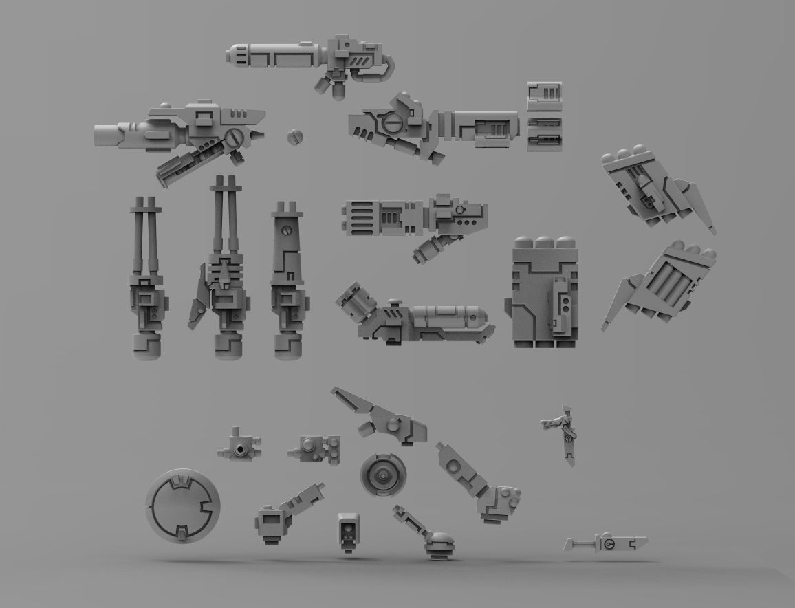 Greater Good crisis bits bundle with weapons and support systems
