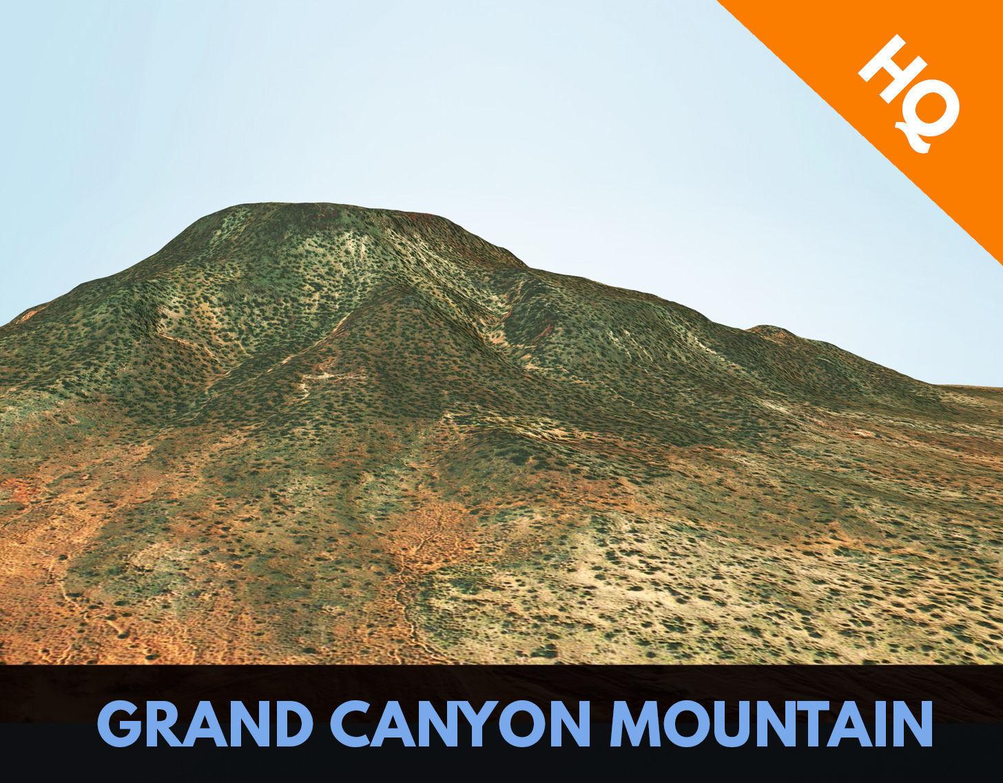 Grand Canyon Mountain Terrain Arizona Landscape PBR