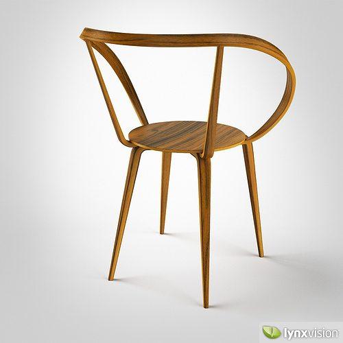 Beautiful ... Pretzel Chair By George Nelson 3d Model Max Obj Fbx Mtl 3 ...