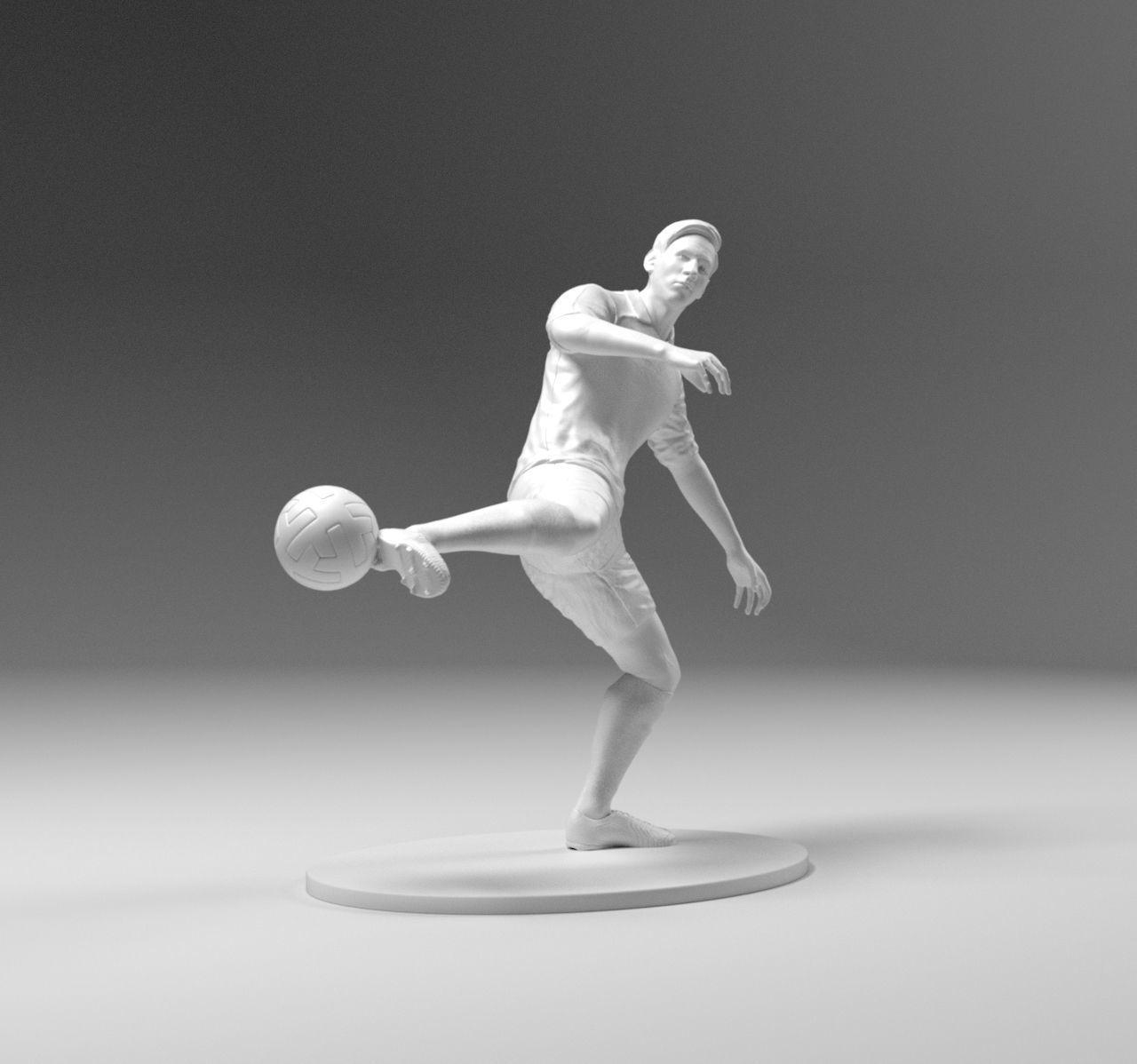 Footballer 03 Footstrike 04 Stl