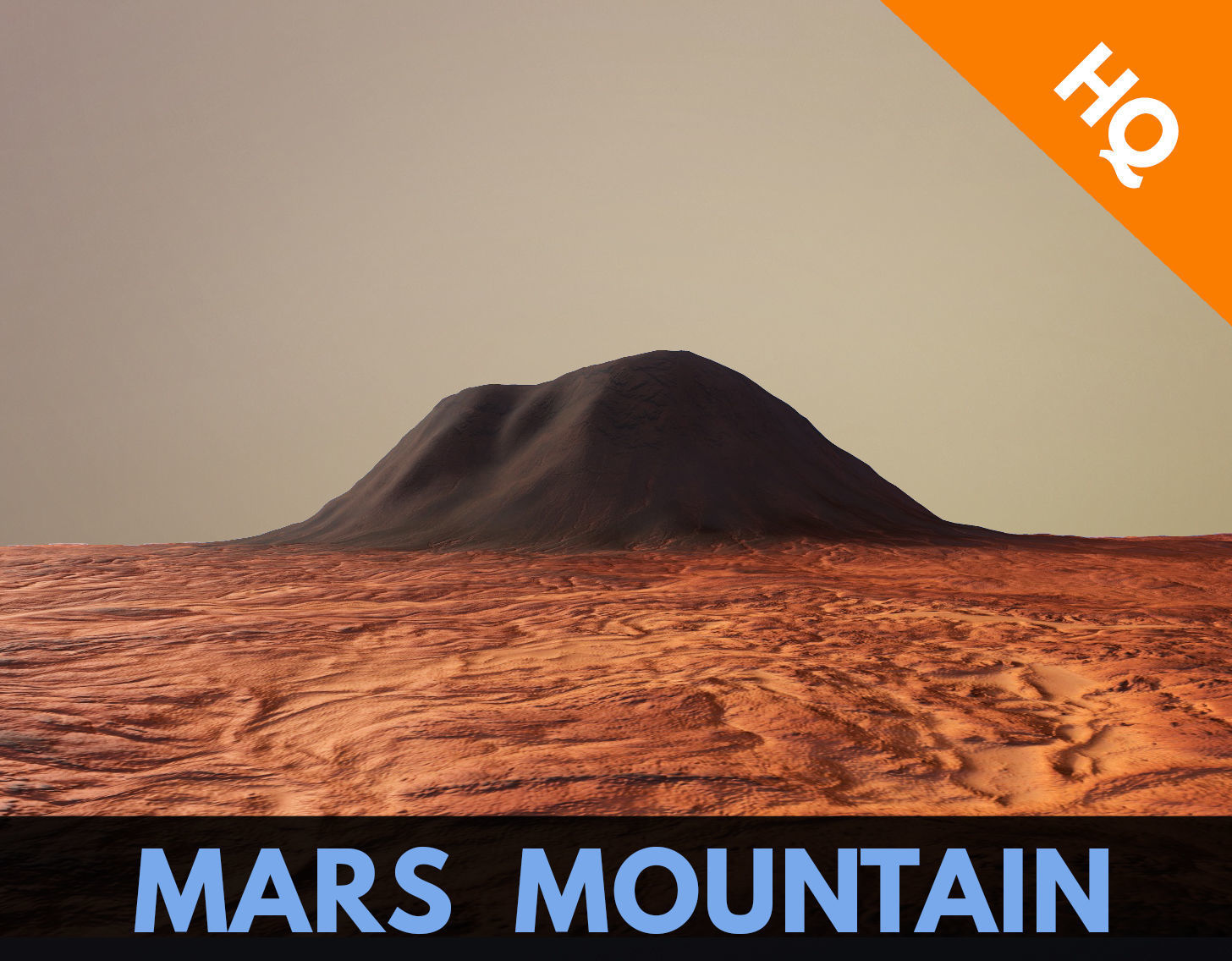 Mars Planet Mountain Terrain Landscape Desert Valley PBR 02