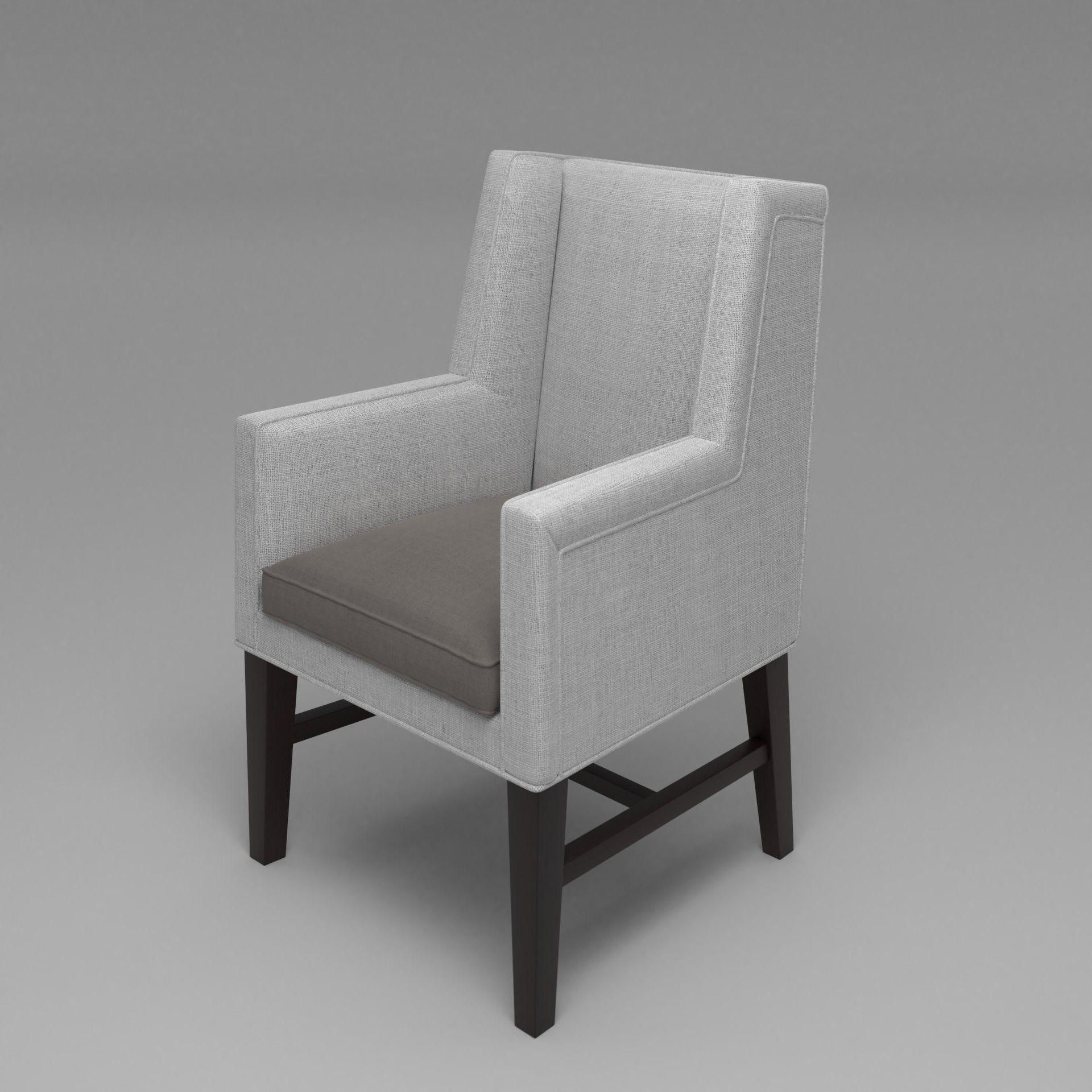 Greenbrier Exterior: Greenbrier Wing Chair 3D Model