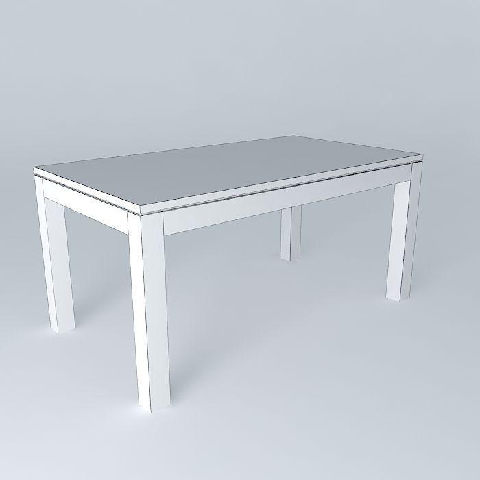 Dining Table Stockholm Maisons du Monde 3D model MAX OBJ 3DS FBX ...