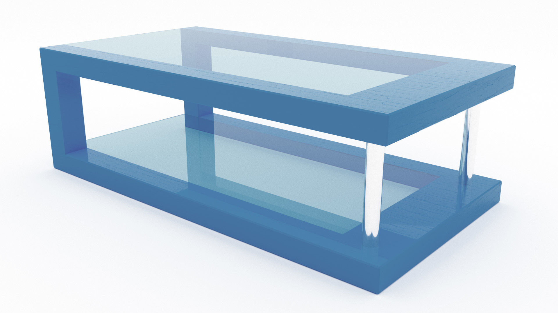 Blue Glass Coffee Table 3ds Max Vr Ar Ready Cgtrader