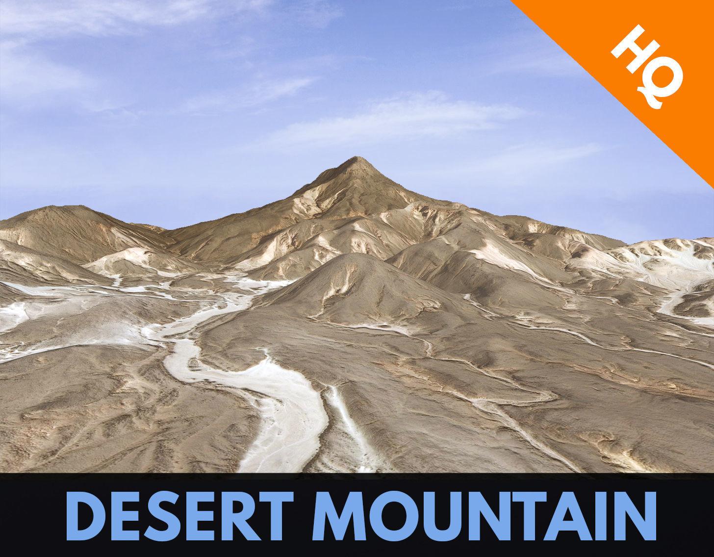 Desert Mountain Rocks Landscape Terrain Cliff PBR  07