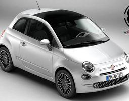 Fiat 500 2016 3D model