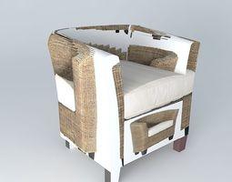 ZANZIBAR Armchair Houses of the world du 3D