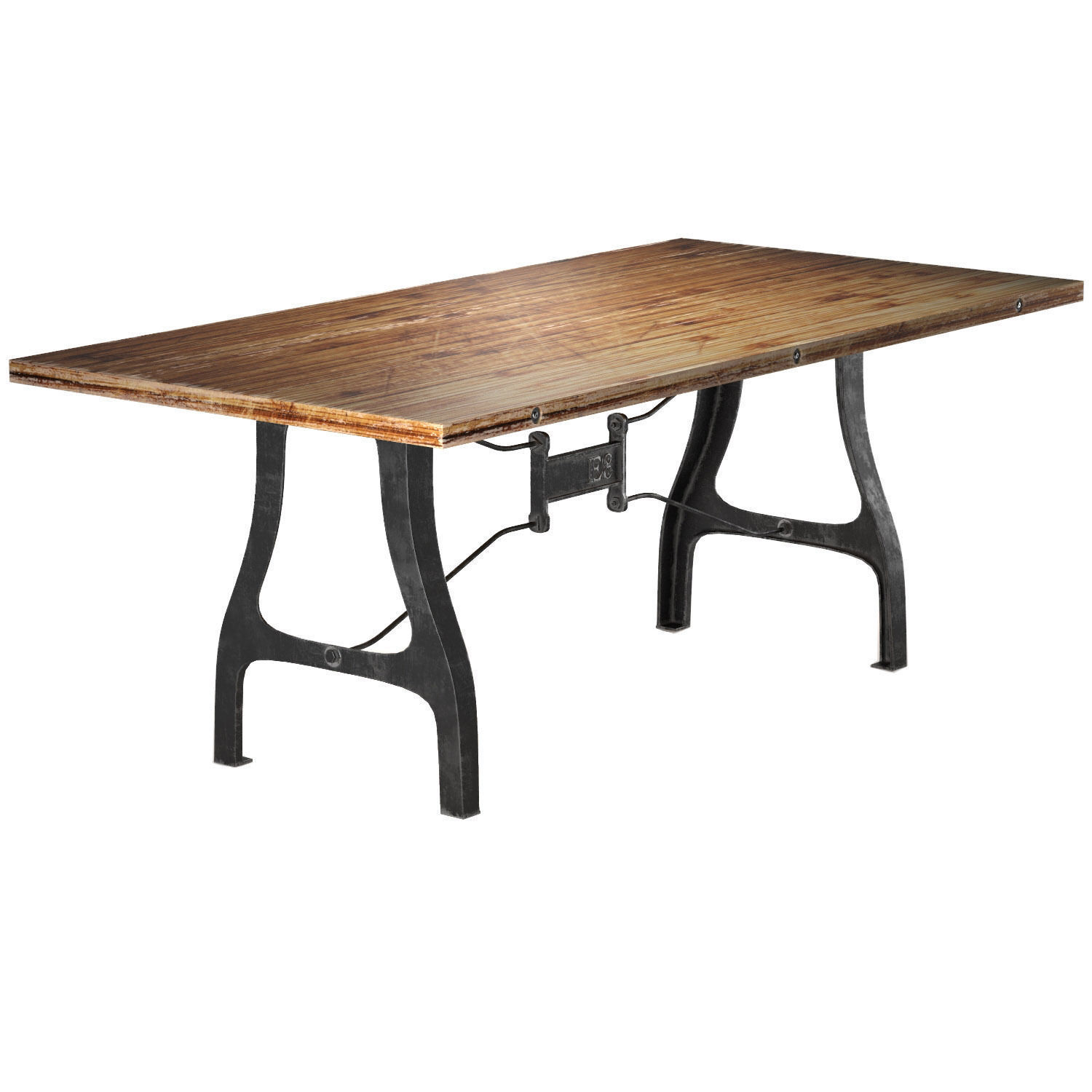 Nuevo V4 A Leg Small Dining Table with Reclaimed Wood Top 3D model MAX