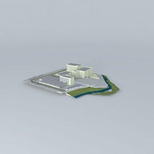 texas instrument site plan model 3d model max obj 3ds fbx stl skp 1