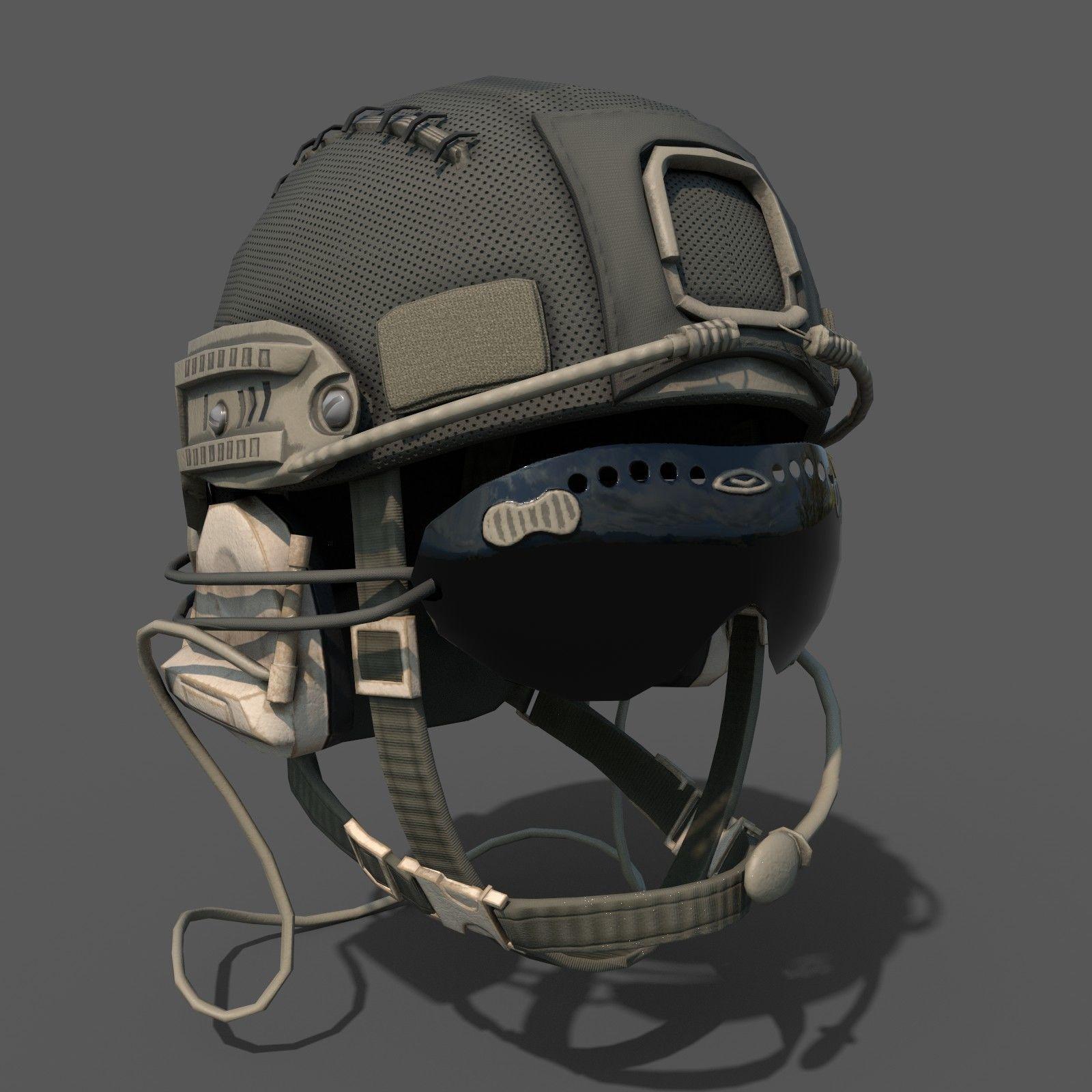 Military helmet soldier scifi | 3D model