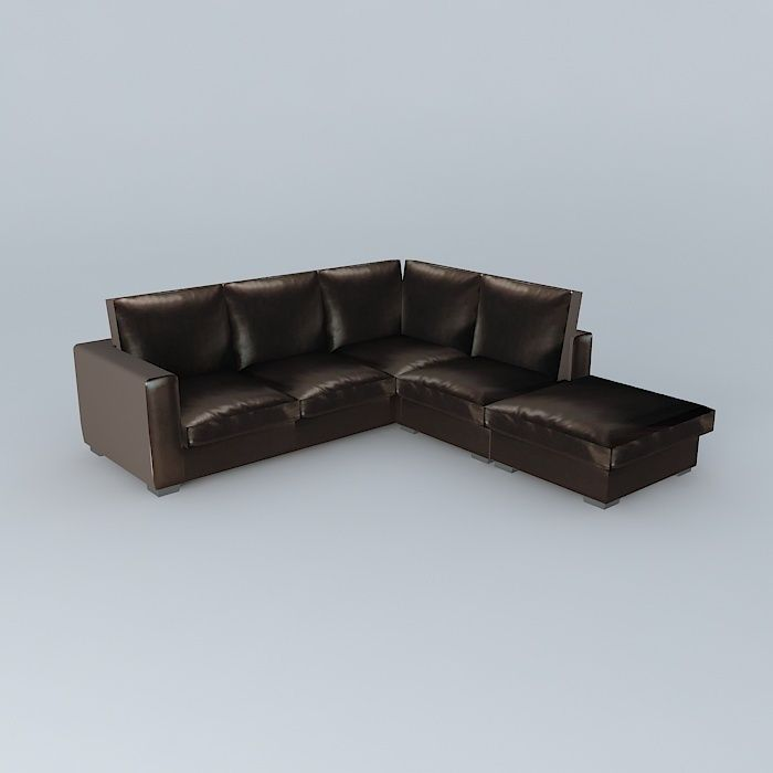 Corner sofa bed KENNEDY 5 squares houses the world | 3D model