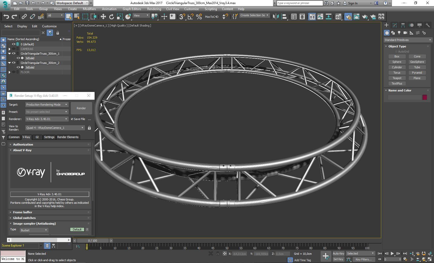 Circle Triangular Truss Full diameter 300cm