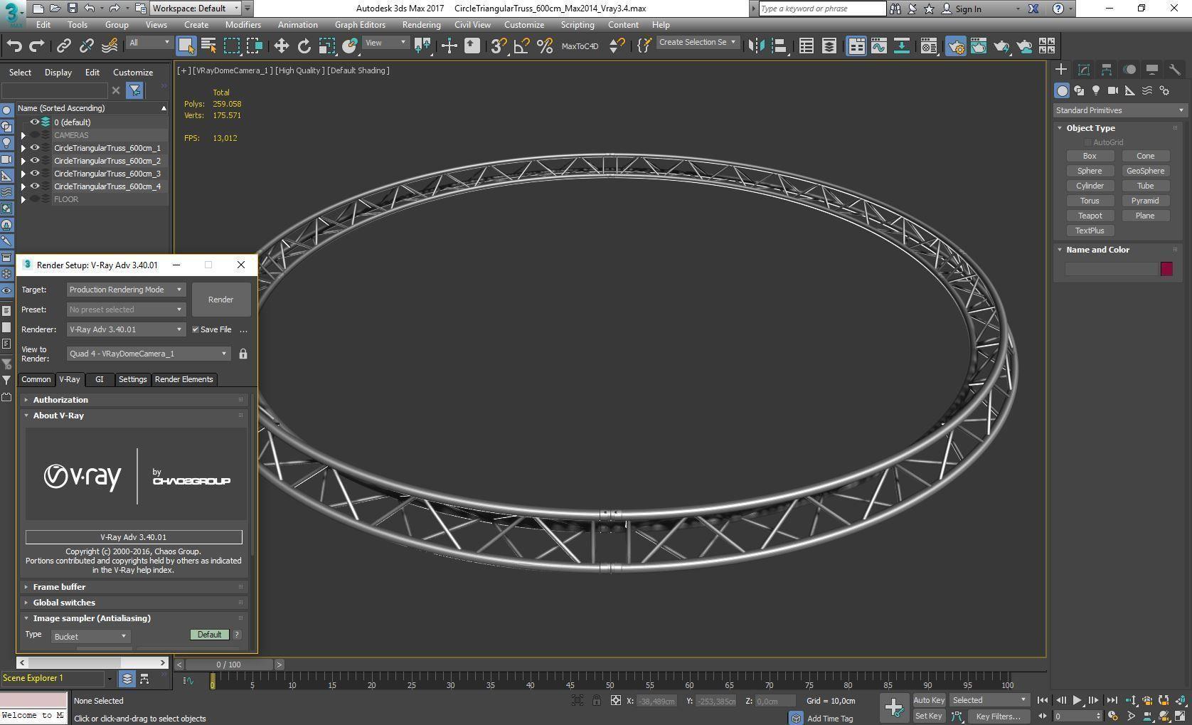 Circle Triangular Truss Full diameter 600cm