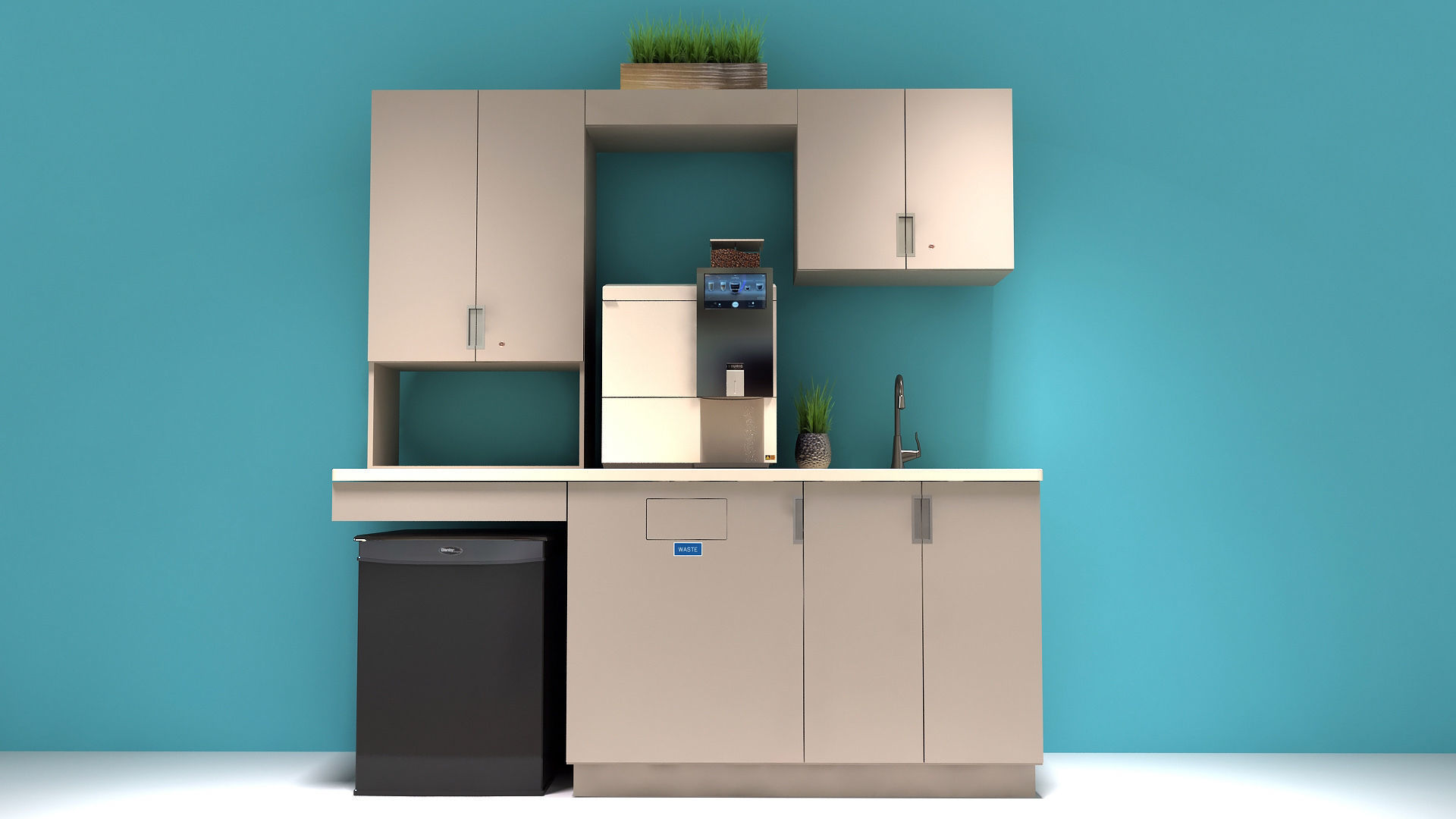 Office Kitchen Cabinets | 3D model