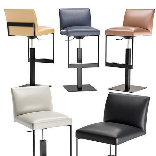 Miraculous Calligaris Gala Upholstered Metal Stool 3D Model Machost Co Dining Chair Design Ideas Machostcouk