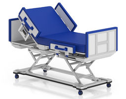 advanced hospital bed 3d model
