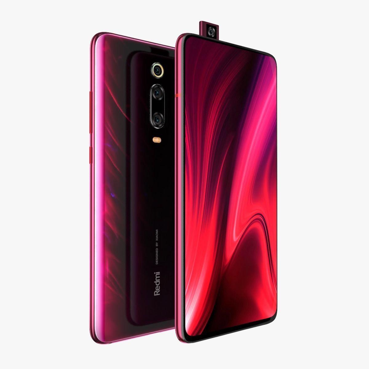 Xiaomi Redmi K20 Pro Flame red   3D model