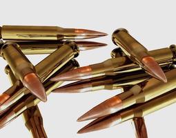 VR / AR ready glossy bullets 3d model