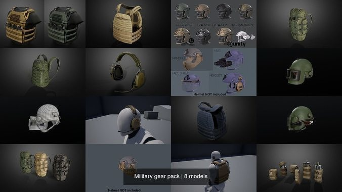 Military gear pack