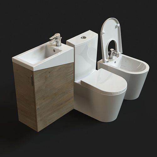 urb y plus sanitaryware free model 3d model max obj mtl fbx 1