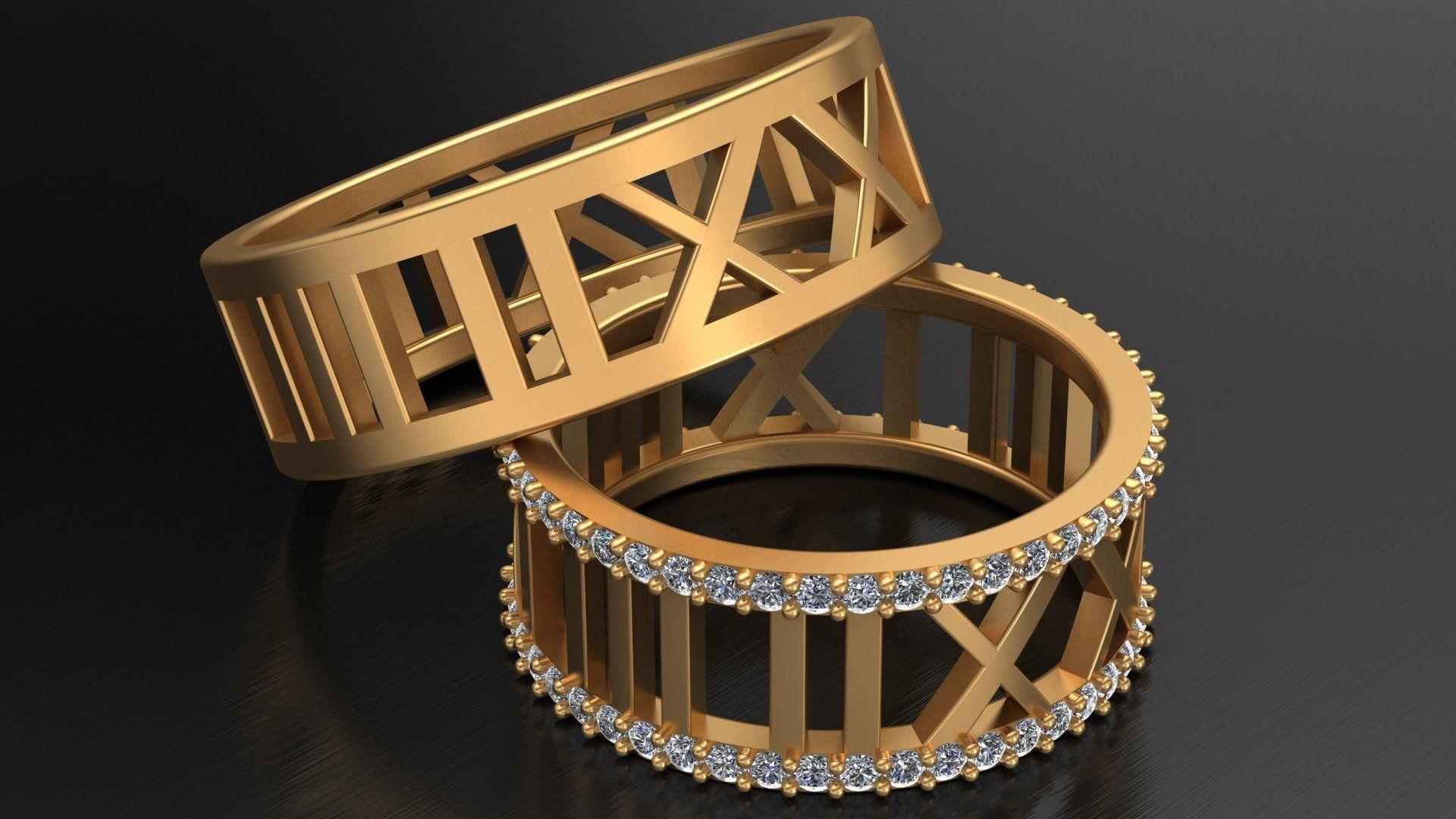 TIFFANY ATLAS WEDDING DIAMOND RINGS