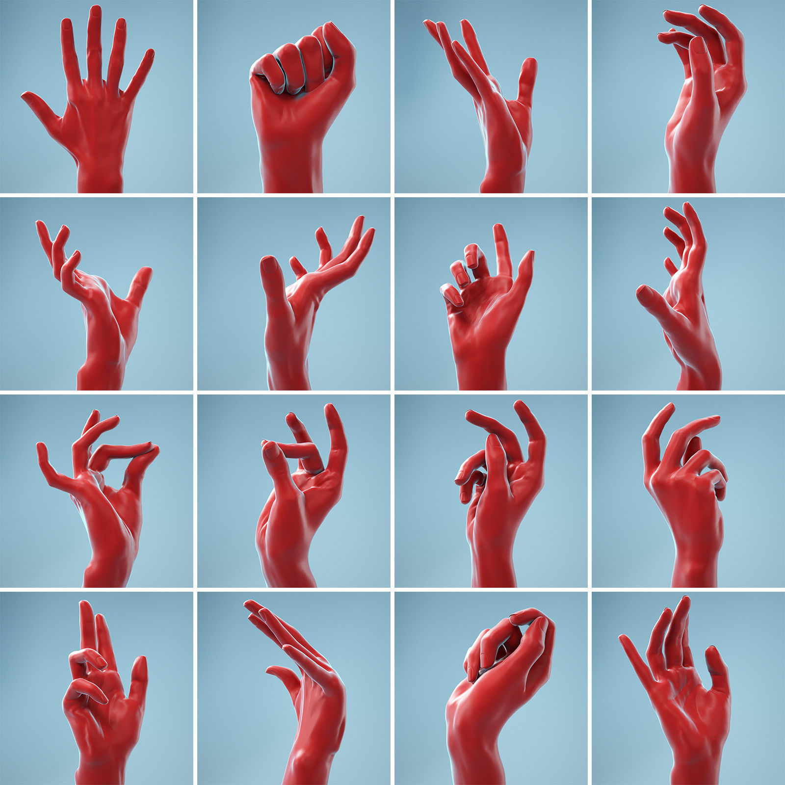 13 Female Hands Posed