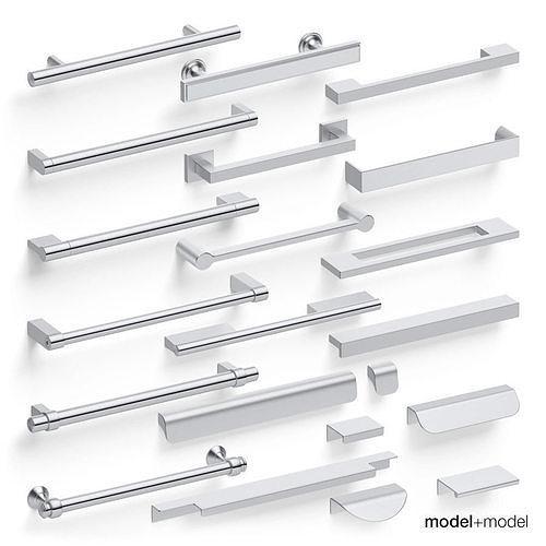 Straight pull handles