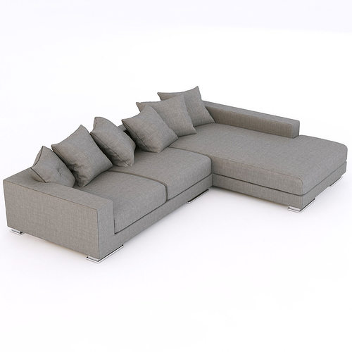 Corner sofa furniture 3d model cgtrader for Sofa 3d model