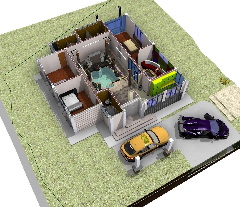 Villa 3d model rvt 7