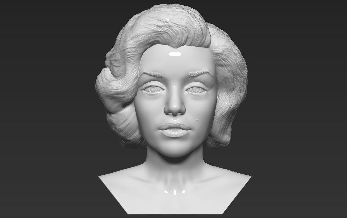 Marilyn Monroe bust 3D printing ready stl obj formats