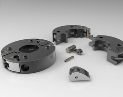 Sectors Ring Cam lever clamp for shaft 3D