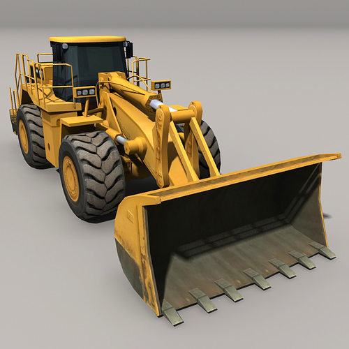 loader 3d model low-poly max obj fbx mtl 1